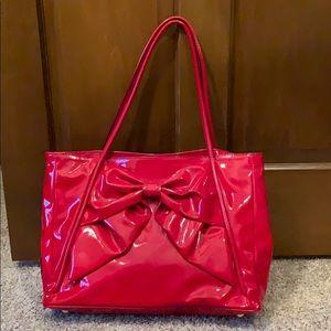 Valentino Patent Leather Red Bow Handbag